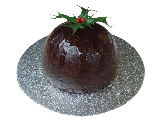 ca121 Christmas pudding with holly sprig