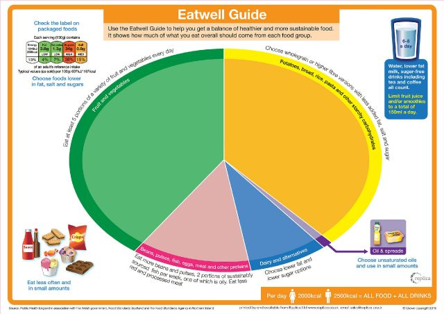 ewgepa1 Eatwell guide English plain size A1 84cm x 60cm