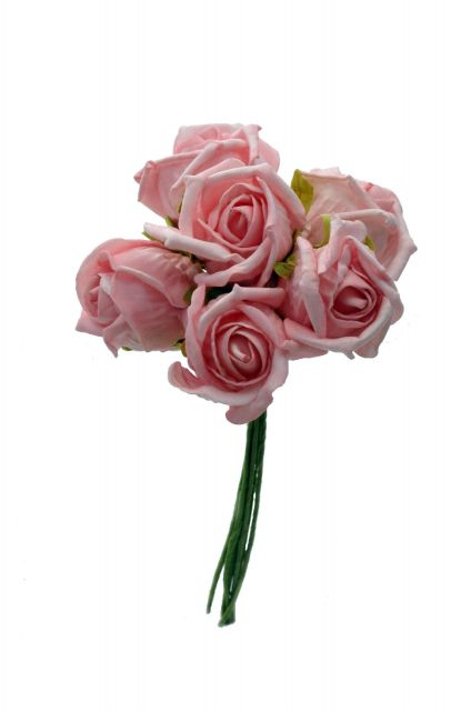 fl066 Foam Rose Bouquet Small Pink