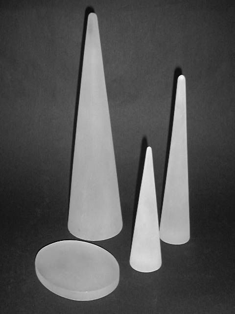 jw021 Cone small clear frosted