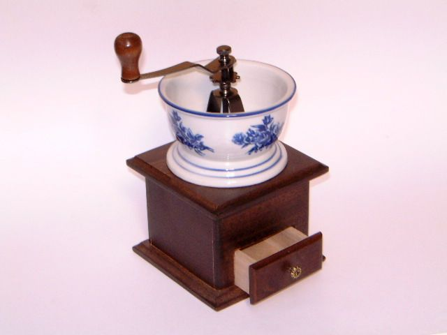 pr278 Coffee Mill ceramic and wood