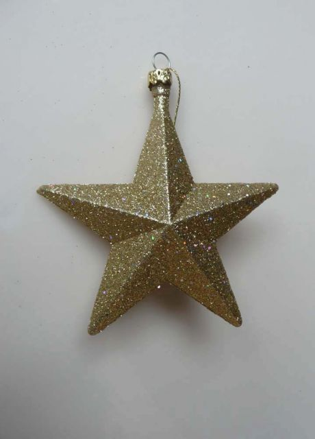 th087 Gold Glitter Star