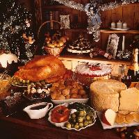 Replica Christmas / Thanksgiving banquet - a selection of food props suitable for the festive season